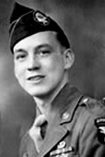 Pfc Donald R. Burgett, 506th PIR Company A, 1st Battalion. He was one of only eleven men out of the original 200 in his company to survive from D-Day in Normandy to the war's end. He wrote 4 books of his first-hand accounts of his time spent in the United States Army during World War II.
