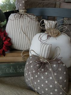 Sprinkles of Fall Fabric Pumpkins