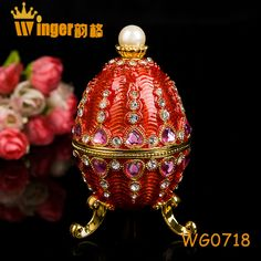 Art Collectible Faberge Eggs Princess Castle Figurine Jewelry Trinket Box Gold Easter Egg Magnet Metal Crafts