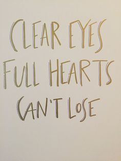 Clear Eyes, Full Hearts, Can't Lose - Canvas Print (Friday Night Lights) by MadeByTaylar on Etsy