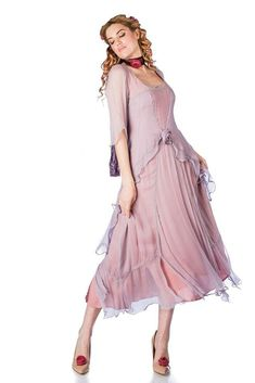 You'll look like a true 1920s darling when you step out wearing the Great Gatsby Party Dress in Mauve by Nataya Evening Dresses Plus Size, Formal Evening Dresses, Plus Size Dresses, Lace Tea Length Dress, Tea Length Dresses, Great Gatsby Party Dress, 1920s Party, 1920s Wedding, Party Wedding