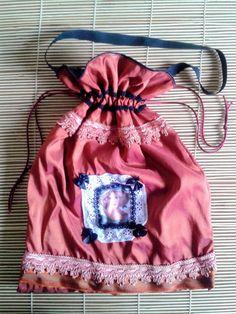 Taffeta boho bag Taffeta handbag with por ShabbyChicVintageBag