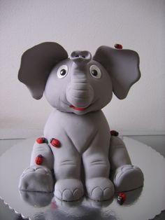 Elephant make from cake!