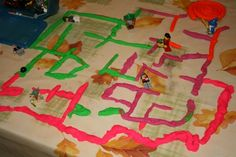 playdough maze