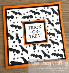 Paper Daisy Crafting: Trick or Treat Halloween card with Little Delights