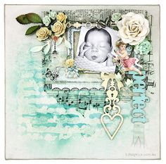 Created by Kim Price for Blue Fern Studios Papers - Montage Collection Calling Cards Chipboard - Romantic Page Dangles, Chunky Words