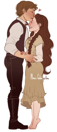 Han and Leia by mercis caterpillars