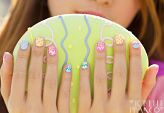 Easter nail tutorial by. ..Michelle Phan