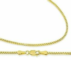 Box Chain 14k Yellow Gold Necklace Solid .8mm , 18 inch Jewel Roses. $149.00