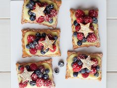 4thofjuly fourth of july Star-Studded Berry Tarts recipe from Food Network Kitchen via Food Network