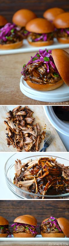 Slow Cooker Balsamic Honey Pulled Pork #recipe #slowcooker