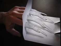 Anamorphic 3D drawings by Alessandro Diddi
