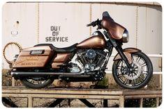 Harley Street Glide rebuilt by Roland Sands. Harley Davidson Buell, Harley Davidson Street Glide, Harley Davidson Motorcycles, Hd Street Glide, Roland Sands, Road Glide Special, Harley Bobber, Custom Baggers, Hot Bikes