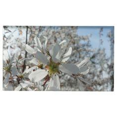 White Flower photo table card holder