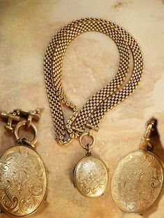 Antique Victorian Bookchain locket necklace with old photo and rose gold filled  watch chain on Etsy, $575.00