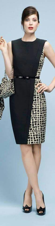 ...This I love bigtime! Maybe not to match the handbag with the dress but I love the cut and the two patterns