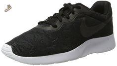 NIKE WOMENS TANJUN ENG SHOES BLACK BLACK WHITE RACER PINK SIZE 8 - Nike sneakers for women (*Amazon Partner-Link)