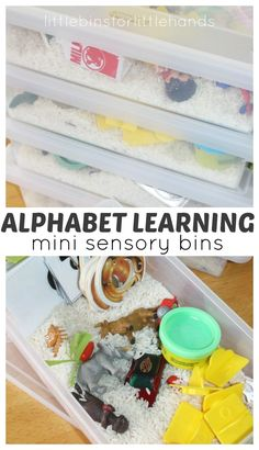 Mini Alphabet Sensory Bins For Letter Recognition, Sounds, And Vocabulary Building