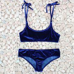 e153a3972babf Bikini Set beach body Sexy Brazilian Bikini 2017 Blue Velvet Swimwear Women  Swimsuit Push up Biquini Halter Bikinis Set Bathing Suit Maillot De Bain