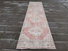 Turkey Colors, Hallway Rug, Small Rugs, Coral Pink, Floor Rugs, Handmade Rugs, Rug Runner, Runes, Vintage Rugs