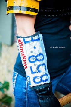 Day 11 - $40 Small license plate bracers (fallout, mad max, post apocalypse).