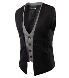 Cheap mens suit vest, Buy Quality suit vest directly from China suit vest fashion Suppliers: MarKyi 2017 fashion fake two pieces mens double breasted waistcoat good quality slim fit mens suit vest size Black Suit Vest, Mens Suit Vest, Mens Suits, Casual Suit, Casual Blazer, Style Casual, Dress Casual, Casual Shoes, Double Breasted Waistcoat