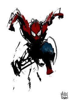Mike Ballan — Spider & Paint This would be awesome to have. Comic Book Characters, Marvel Characters, Comic Character, Comic Books Art, Comic Art, Hq Marvel, Marvel Dc Comics, Marvel Heroes, All Spiderman