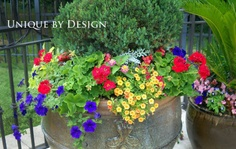 simple for summer love the boxwood with it