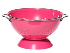 Because it's finally fresh berries time! Reston Lloyd Calypso Basics 5-quart enameled steel colander in magenta, $22, wayfair.com