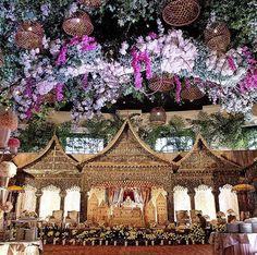 The Wedding of Asti & Ichsan // Venue at // Decorated by & // Wedding Organized by // Lighting Designed by UPLIGHT // Wedding Vendors, Wedding Ceremony, Weddings, Indonesian Wedding, Wedding Stage Decorations, Sophisticated Wedding, Wedding Bridesmaid Dresses, Traditional Wedding, Wedding Inspiration