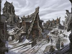 Windhelm Street by Bethesda Blog, via Flickr