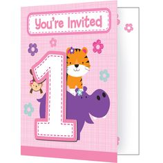 One is Fun Girl 5 x 4 Invitation w/Attachment/Case of 48 Tags: One is Fun - Girl; Invitation; Baby Shower; baby shower party ideas;baby shower invitation;baby shower party decorations;baby shower decorations; https://www.ktsupply.com/products/32786351447/One-is-Fun-Girl-5-x-4-Invitation-wAttachmentCase-of-48.html