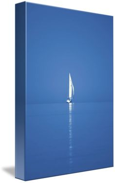 """""""Fresh Reflections"""" by Anthony Hernandez, Holland // Sailboat on Lake Michigan's calm, fresh waters in the distance. // Imagekind.com -- Buy stunning fine art prints, framed prints and canvas prints directly from independent working artists and photographers."""