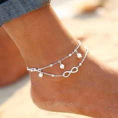Summer Beach Infinity Charm Anklet  2 Variants . 2016 New Barefoot Sandals  Enkelbandje Turquoise Beads Boho Foot Jewelry Beach Anklet Ankle Bracelet  Anklets ... 35aa5348a0b7