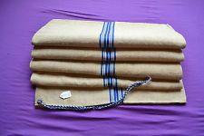 Vintage Grain Sack Hemp Linen Hessian Upholstery Antique Blue White Stripe