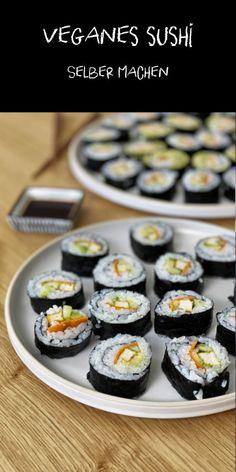 veganes Sushi einfach selber machen #veganesshushi #sushi #vegan #sushiselbermachen #fraujanik #ikea #ikeaschweiz Vegan Clean, Quinoa, Ikea, Cheesecake, Marinated Tofu, Noodles, Vegan Sushi, Healthy Desserts, Eat Healthy