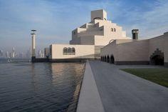 Pei's New Museum of Islamic Art, Doha, Qatar Minimalist Architecture, Islamic Architecture, Sustainable Architecture, Contemporary Architecture, Landscape Architecture, Architecture Design, Bauhaus Building, Louvre Pyramid, Architectural Engineering