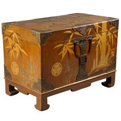 Japanese Fabric Storage Box | From a unique collection of antique and modern lacquer at http://www.1stdibs.com/furniture/asian-art-furniture/lacquer/