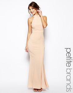 Jarlo Petite High Neck Maxi Dress-love this style in black or white.