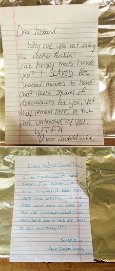 Funny Love Notes Are The Best Love Notes - Relationship Funny - I want this relationship SOOOOO. I would love to play like this. The post Funny Love Notes Are The Best Love Notes appeared first on Gag Dad. Funny Relationship Pictures, Funny Couple Pictures, Freaky Relationship Goals, Relationships Love, Relationship Quotes, Hilarious Pictures, Relationship Humor Funny, Couple Pics, Life Quotes