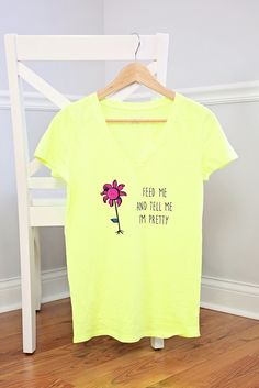 Funny and trendy T-shirt DIY project tutorials designed and crafted with Cricut. Come visit Kim Byers on The Celebration Shoppe for