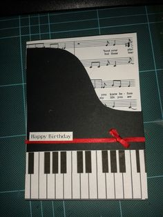 Piano And Sheet Music Birthday Card