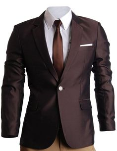 FLATSEVEN Mens Slim Fit Premium Blazer Suit Jacket at Amazon Men's Clothing store: Blazers And Sports Jackets