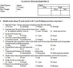 Download Contoh Soal SD/MI Kelas V Mata Pelajaran Pendidikan Agama Islam Format Microsoft Word