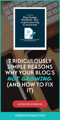 Are you struggling to grow your blog? Have you implemented every single blogging tip and strategy but still haven't seen much progress? This post outlines 8 reasons your blog is not seeing the growth you expect and tells you how to fix it . Download the blog strategy workbook and start to see growth in record time.
