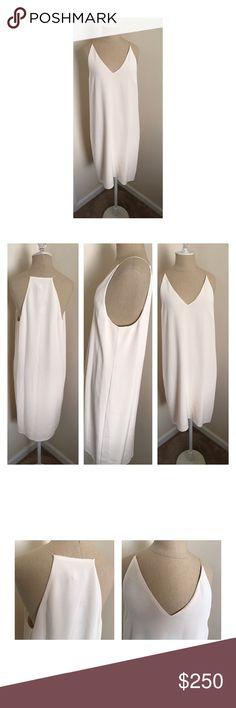 "💥Final price 💥Witchery dress size 8 US 10 Aus NWT Witchery brand cream colored slip dress size 10 Australian and 8 US.  Underarm to underarm 18"", underarm to hem 29"". Original retail at $299. 🇦🇺 Witchery Dresses"