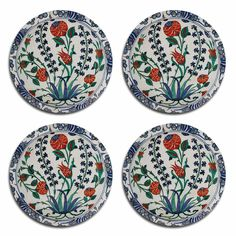The Iznik design is one of our bestselling table mats and coasters, drawing its inspiration from an original 12th century Turkish Iznik ceramic plate.
