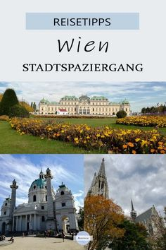 You can see many beautiful sights in Vienna when you walk through the streets. I present the route between Belvedere Palace and the Votive Church here – a great city walk! Places To Travel, Travel Destinations, Travel Tips, Reisen In Europa, Travel Companies, Vienna, Austria, Travel Inspiration, Taj Mahal