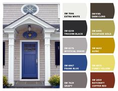 Instantly turn any picture into a palette with ColorSnap, created for you by Sherwin-Williams. House Paint Exterior, Exterior Paint Colors, Exterior House Colors, Paint Colors For Home, Exterior Doors, Front Door Colors, Front Doors, Picture Frame Hangers, Entrance Design