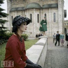 Vintage photos of Christian Dior fashions